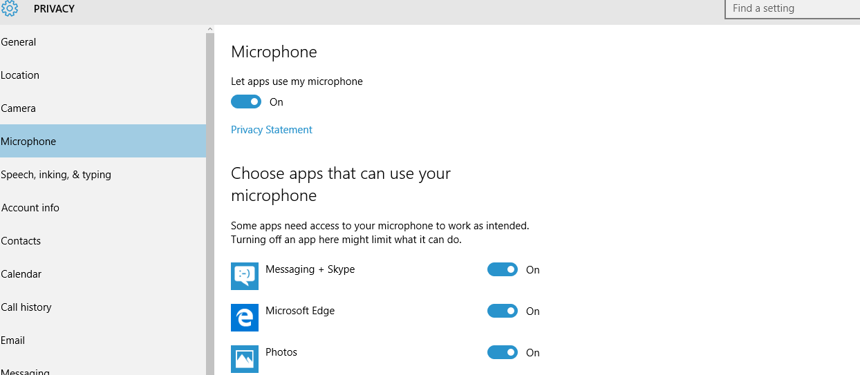 Microphone Access - Turn Off Windows 10 Tracking