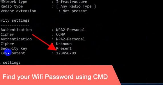 Display Wifi Password Using Command Prompt