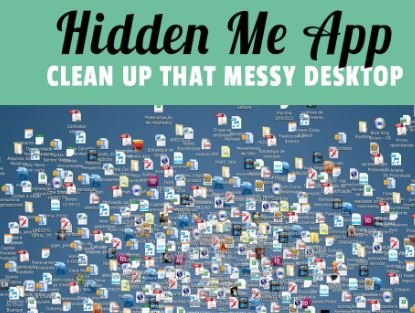 Hide Desktop Icons on Mac Using HiddenMe App