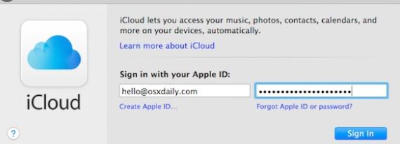 Sign in with the same Apple ID