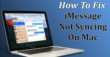 iMessage Not Syncing on Mac