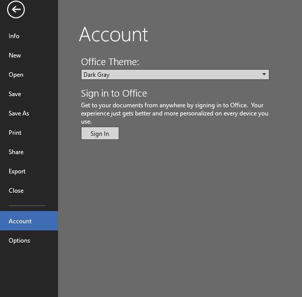 How to Turn Microsoft Office Dark