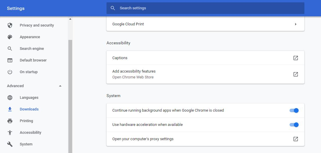 Increase Download Speed in Chrome by Disabling Google Chrome Backgroud Run feature