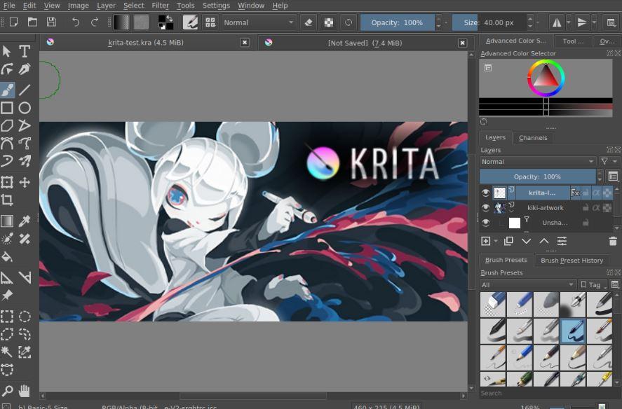 Krita - Free Photoshop Alternatives