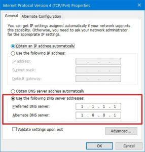 Change the DNS Server