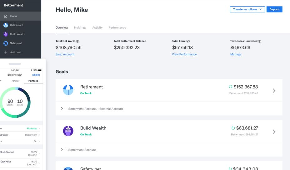 Betterment – Alternatives to Quicken