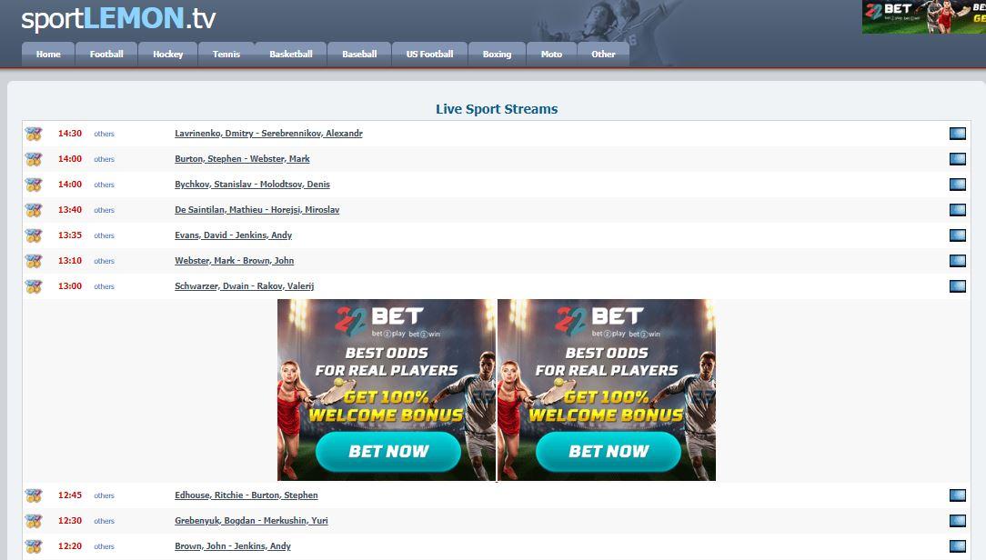SportsLemonTV - Firstrowsports Alternatives