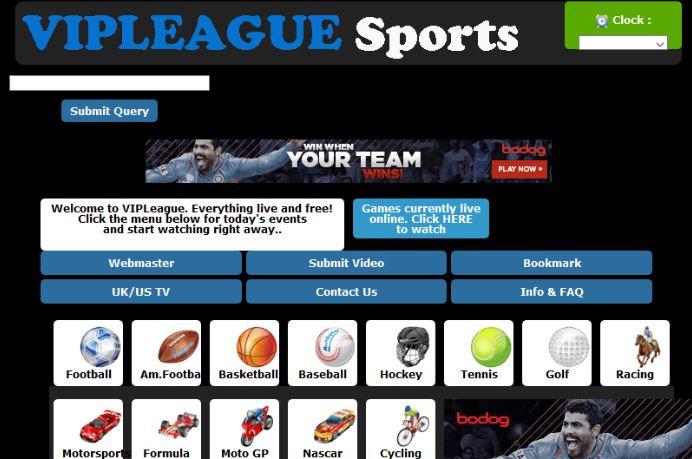 VIPLeague - Firstrowsports Alternatives