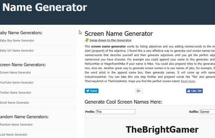 Twitch Name Generators