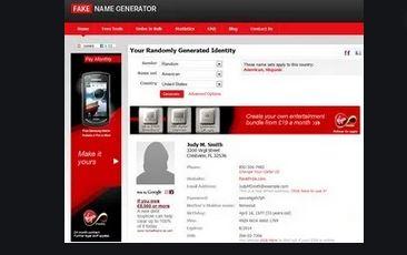 10. Fake Name Generator