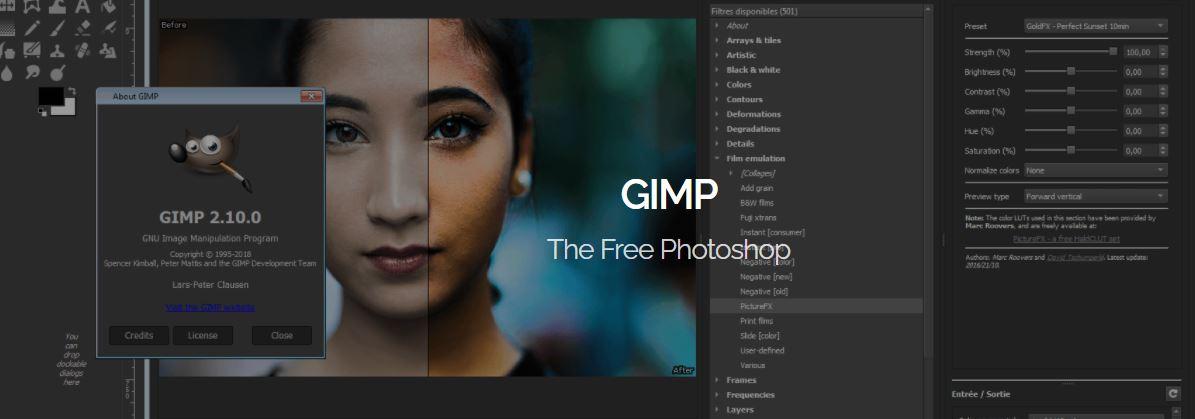 GIMP - Best Lightroom Alternatives